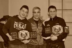 15- 2013-Pelizzari, Camp. Mondiale pro  e Andrea Cavagna, Camp. Europeo pro, col maestro Medda Gianni