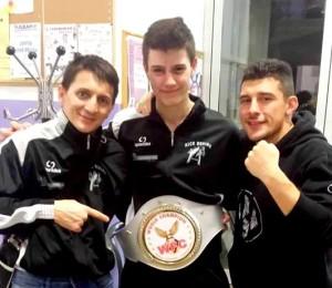 26 - Vagni Diego, camp. mondiale di kick boxing juniores con i maestri Andrea avagna e Pelizzari Ivan